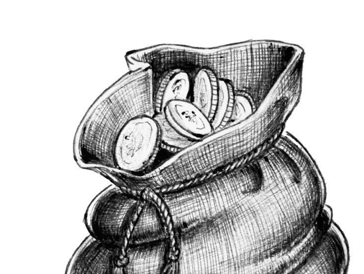 Peníze ilustrace
