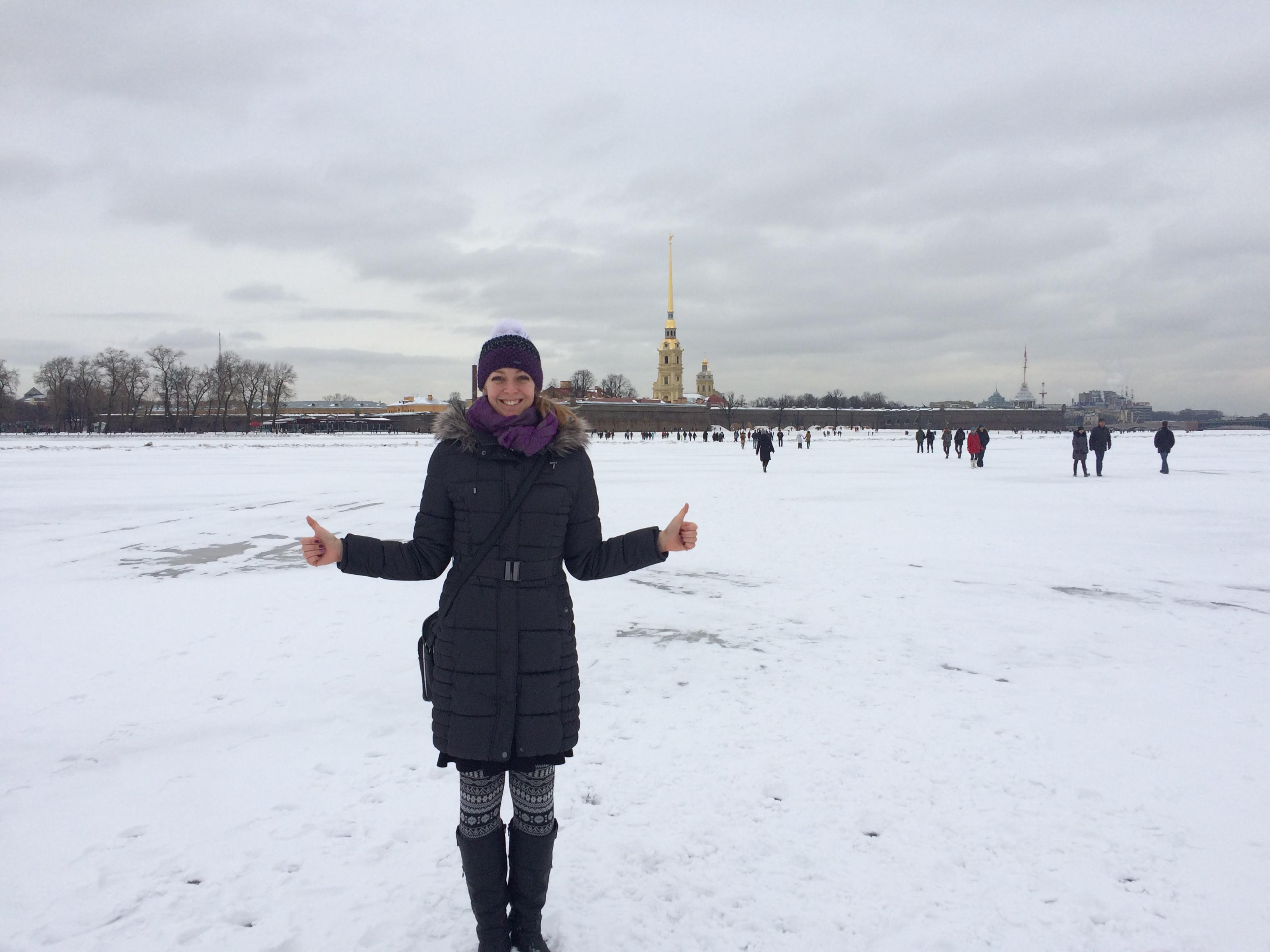 Lucka Rusko - Cesta přes zamrzlou Něvu, autor Lucie Urbánková (1)