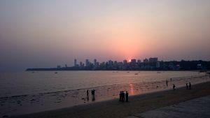 Promenáda na jihu Bombaje, hned kousek od mého ubytování