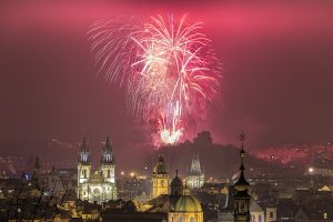 Prague New Year 2016 fireworks