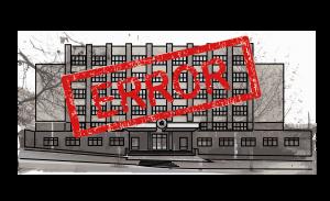 VŠE error stara budova