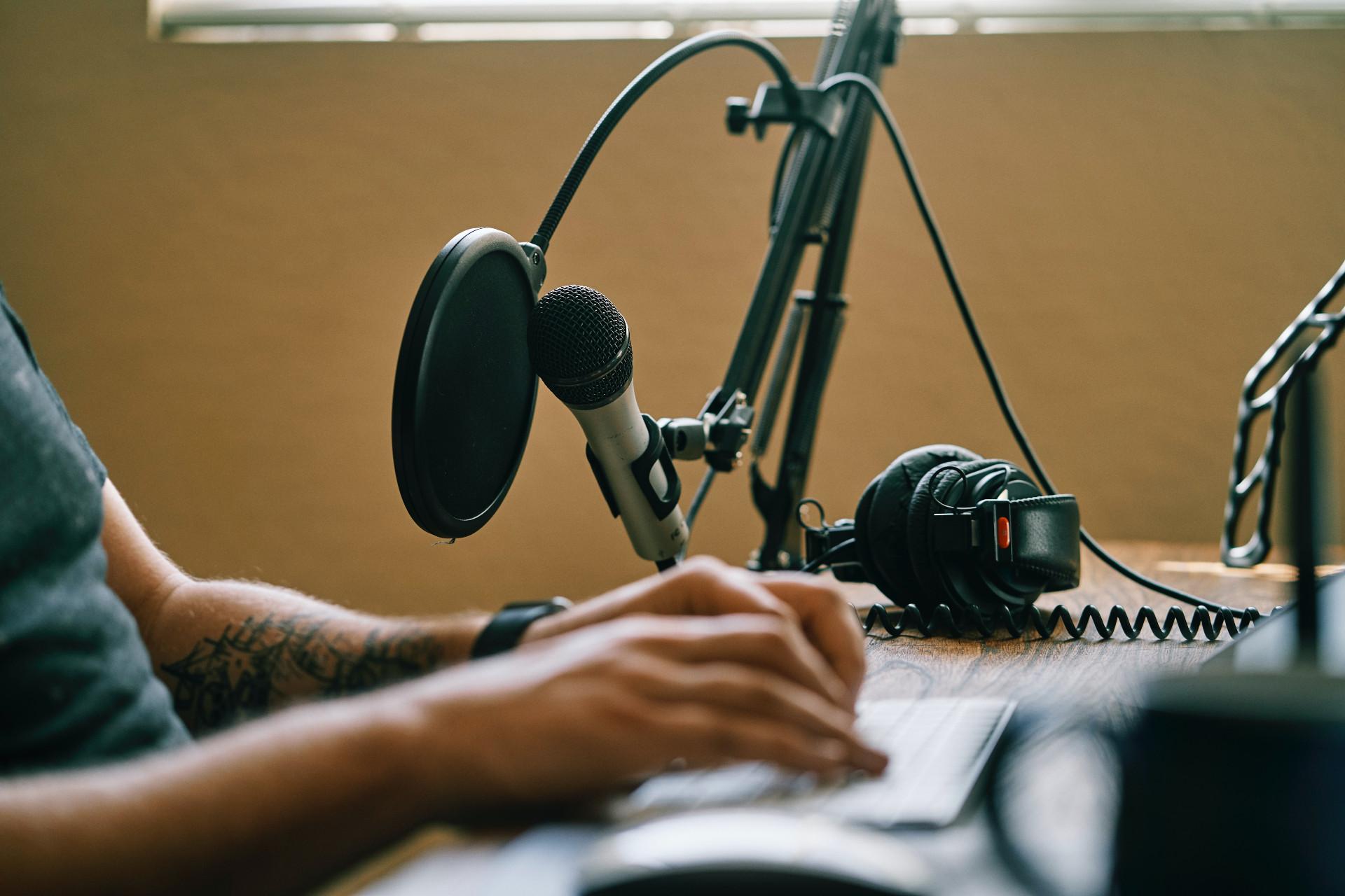 podcast studio nahrávání