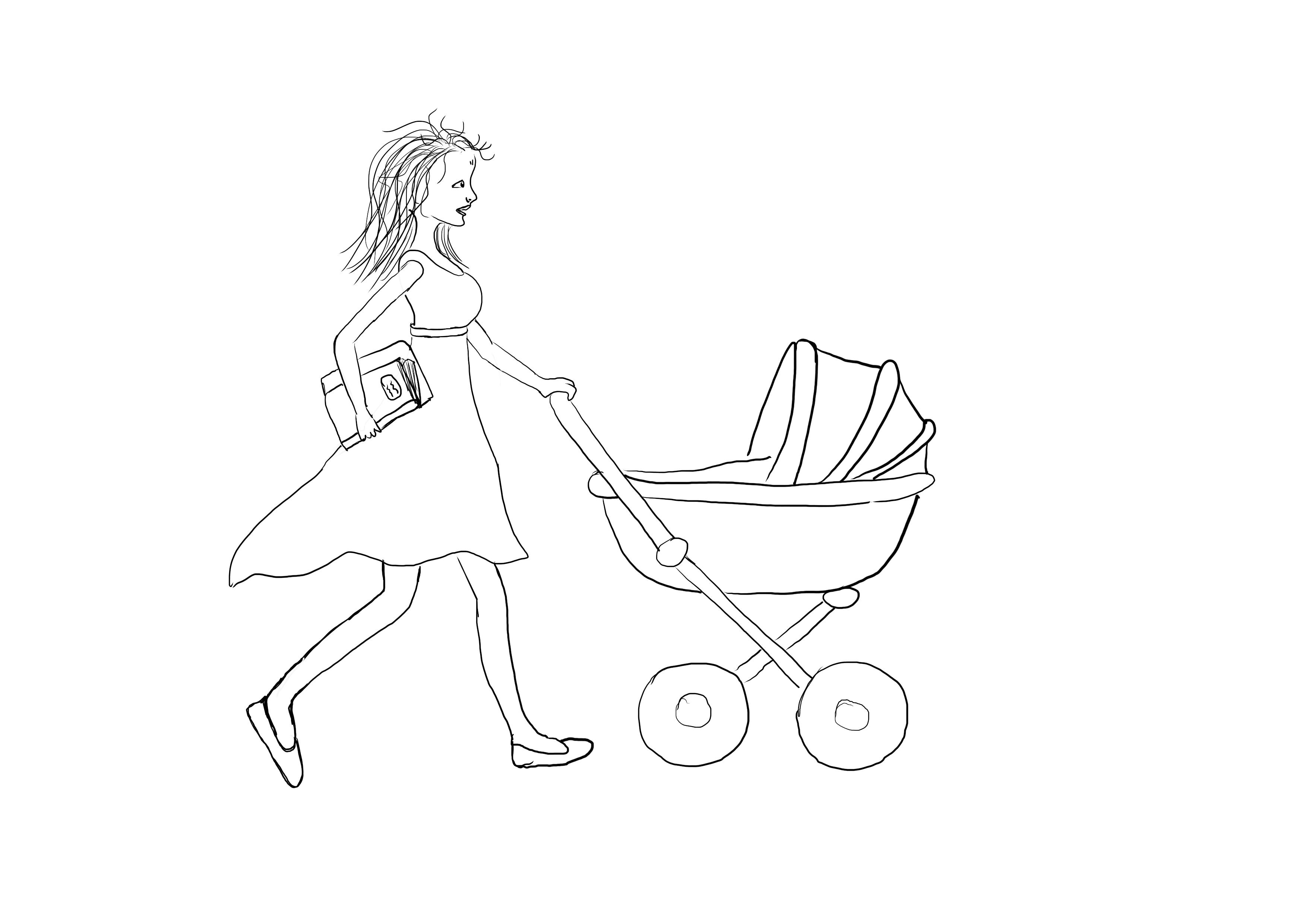 Mary Poppins, chůva, startup, matka, kočár